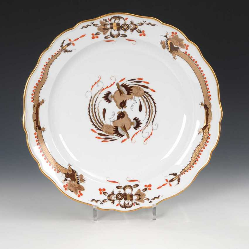 Vegetable plate with dragon painting, Meisse - photo 1