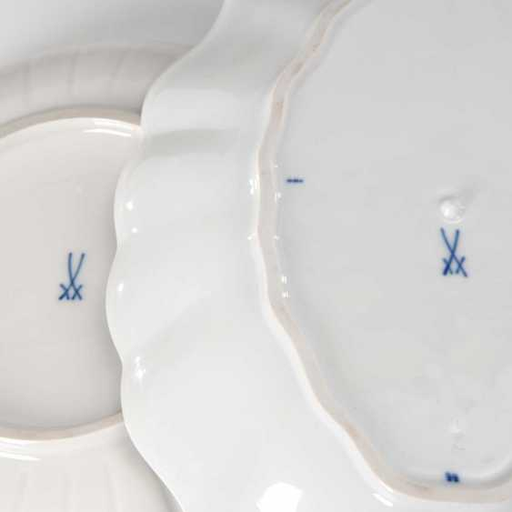 Onion pattern Cup and compartments plate, - photo 2