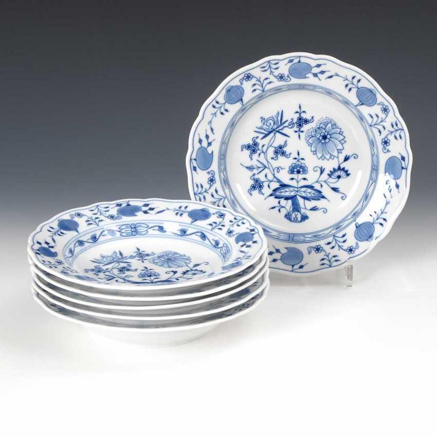 6 Onion Pattern Plates, Meissen. - photo 1