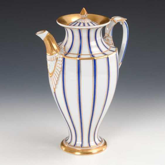 Biedermeier Coffee Pot, Meissen. - photo 1