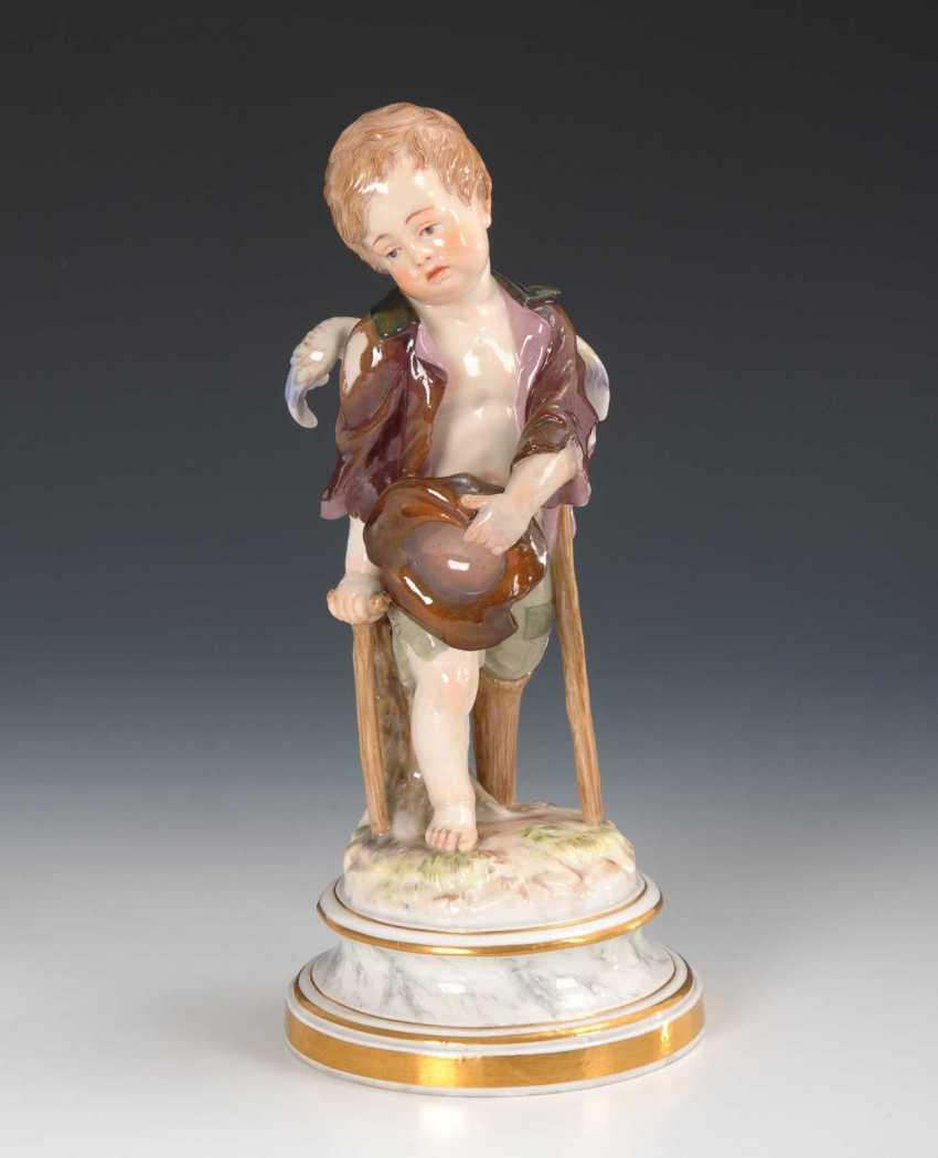 Cupid as a beggar, Meissen. - photo 1
