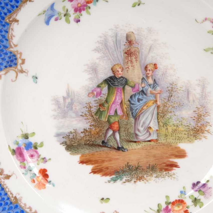 Plate of Watteau painting, Meissen. - photo 2