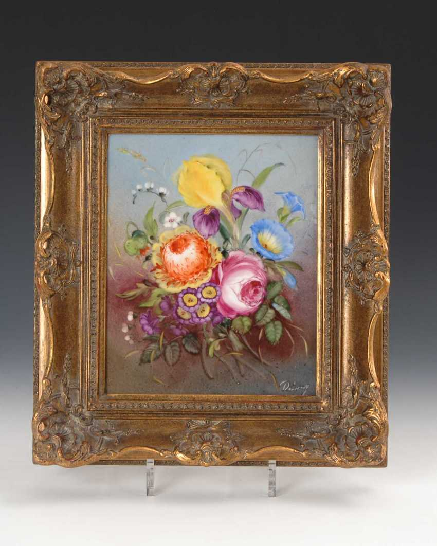 Porcelain Painting: Bouquet Of Flowers. - photo 1