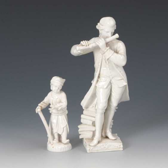 Flute player and Putto as a beggar, KP - photo 1