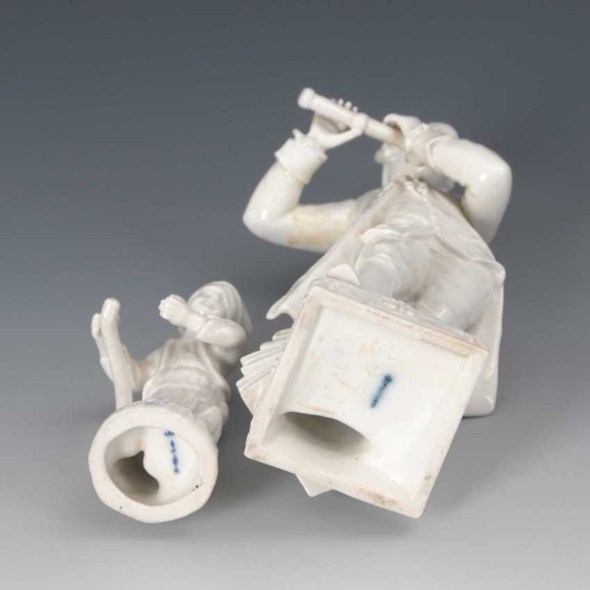 Flute player and Putto as a beggar, KP - photo 2