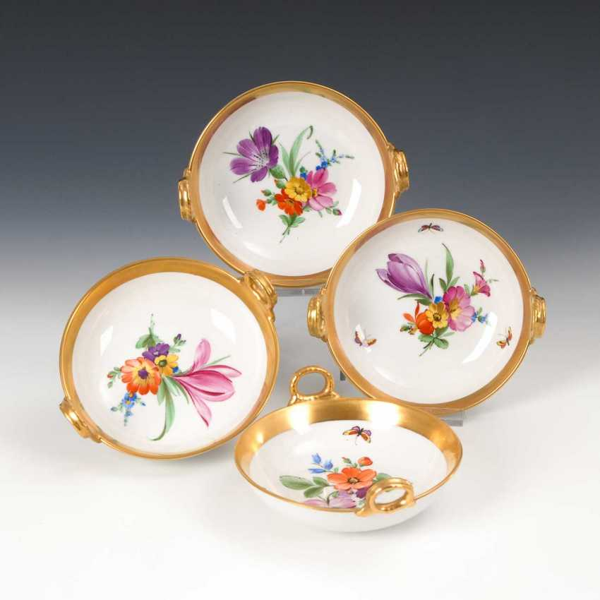 4 bowls with flower painting, KPM Berlin - photo 1