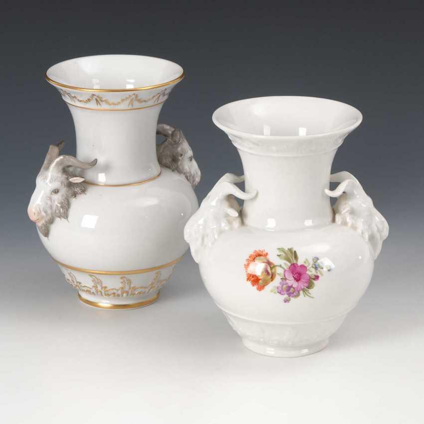 2 RAM's head vases, KPM Berlin. - photo 1