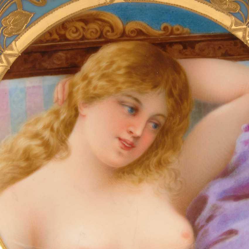 Art Nouveau plate with woman portrait, Sc - photo 2
