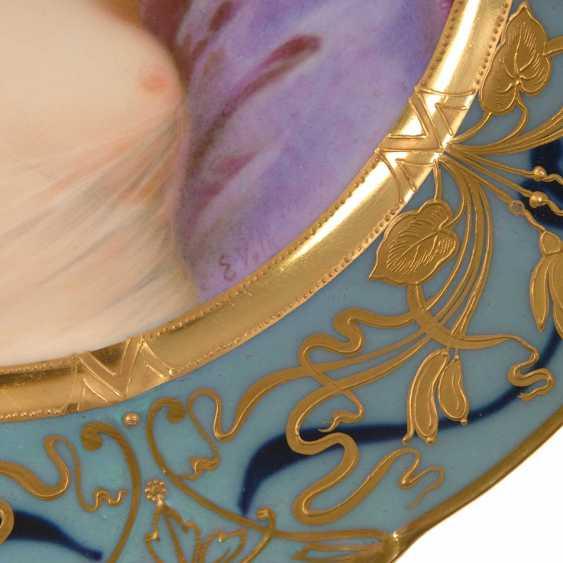 Art Nouveau plate with woman portrait, Sc - photo 4