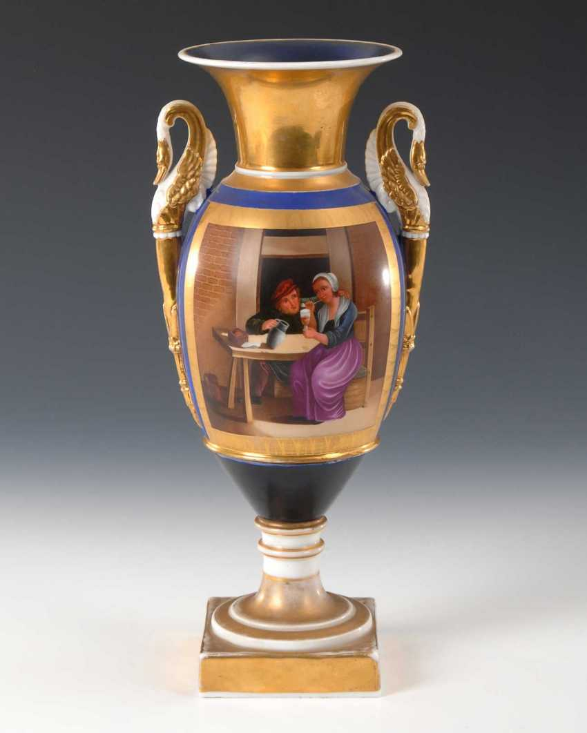 Empire Vase with genre painting. - photo 1