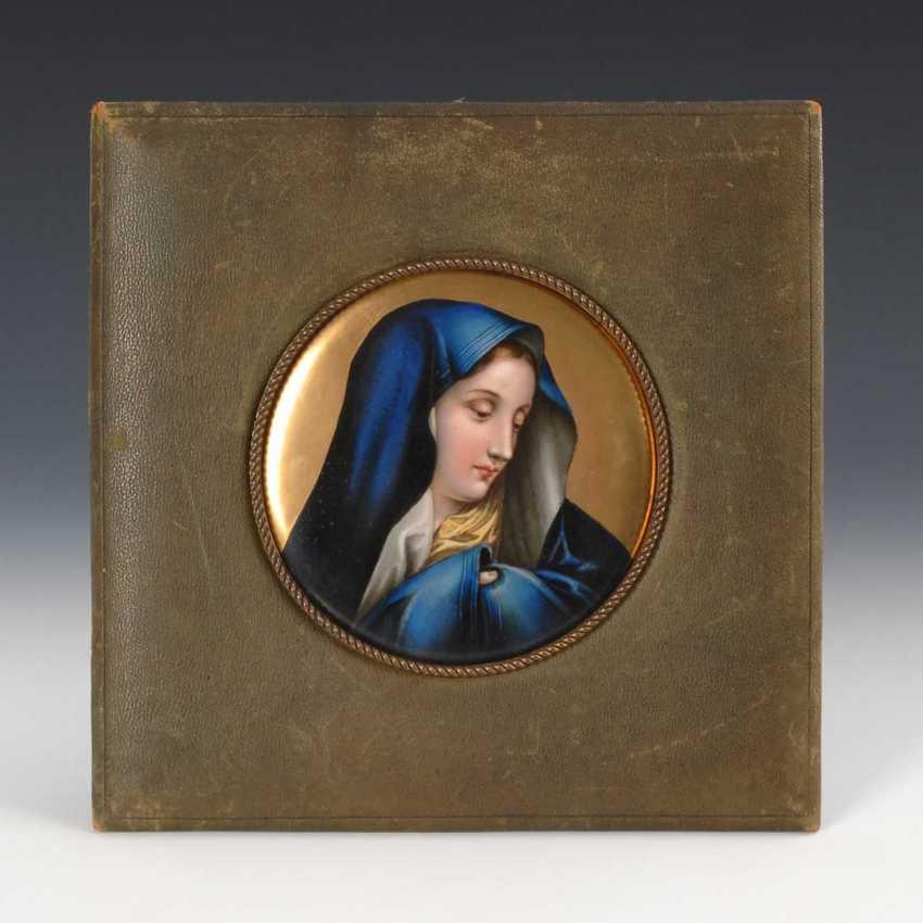 Porcelain Image Diameter: Madonna. - photo 1