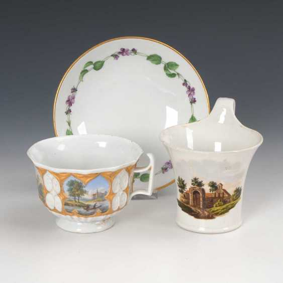 2 cups with landscape painting and 1 U - photo 1