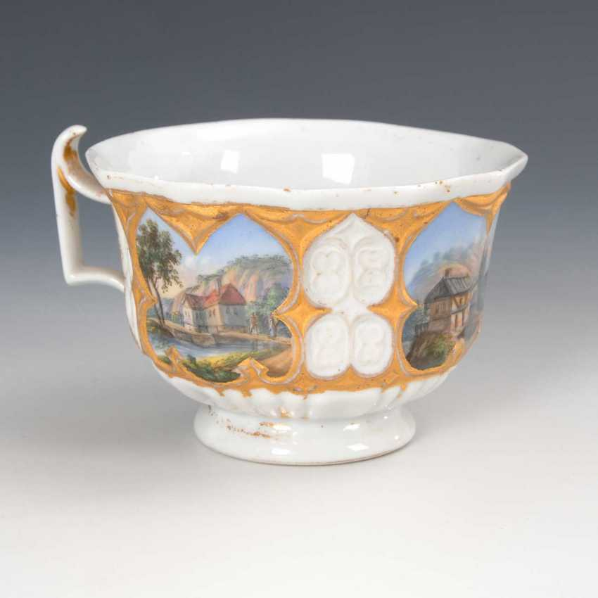 2 cups with landscape painting and 1 U - photo 2
