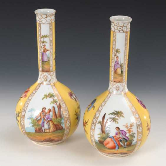 2 vases with four field painting, Dresden. - photo 3