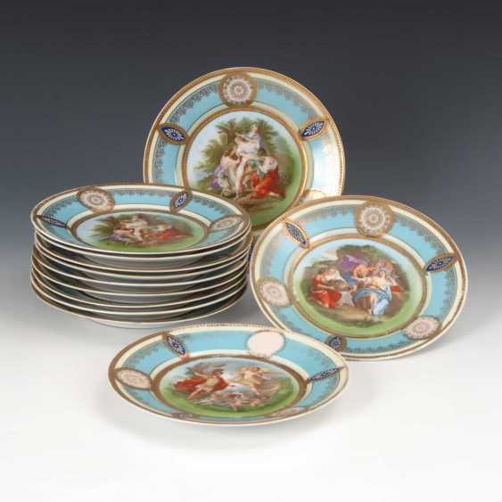 12 plates in the Viennese style, slag value - photo 1