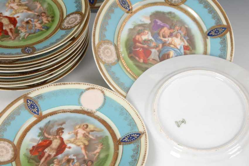 12 plates in the Viennese style, slag value - photo 3