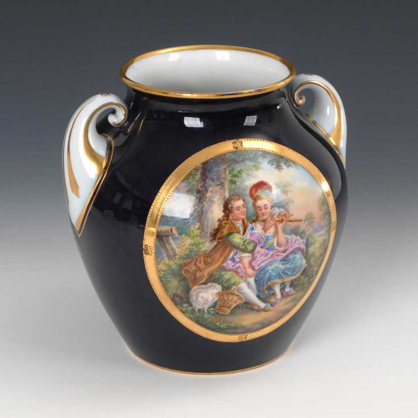 Vase with a Watteau painting, Fraureuth. - photo 3