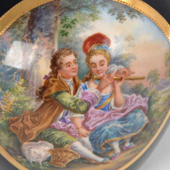 Vase with a Watteau painting, Fraureuth. - photo 4