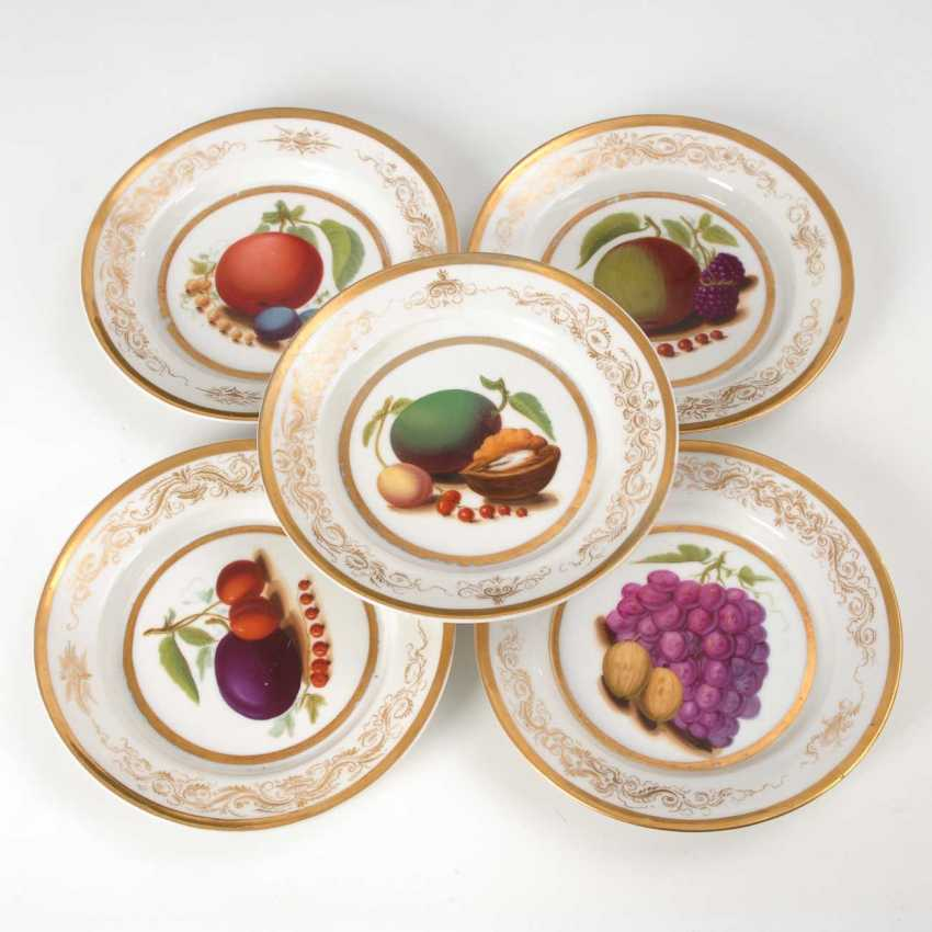 5 plates with fruit painting, Krister. - photo 1