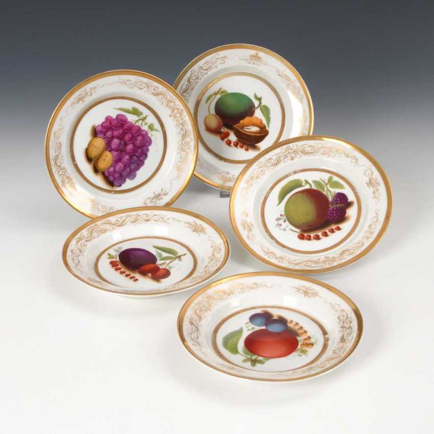 5 plates with fruit painting, Krister. - photo 2