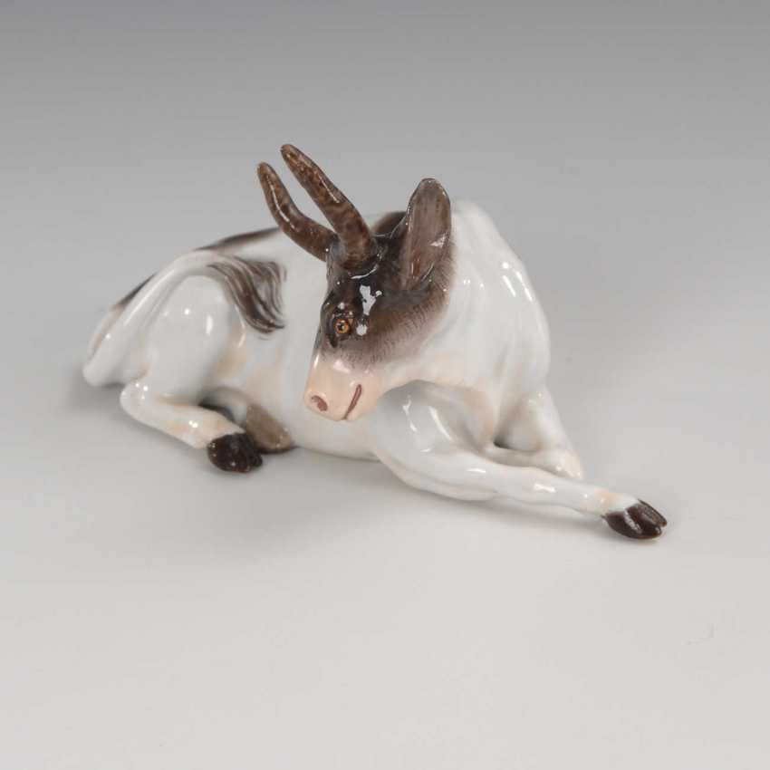 Miniature Figurine: Cow, Meissen. - photo 2
