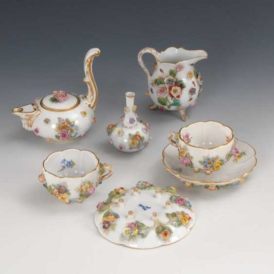 7 porcelain items with floral lining, Meis - photo 1