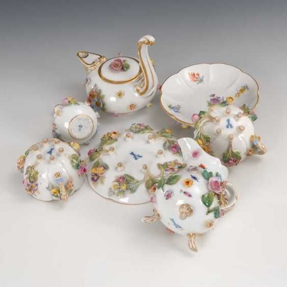 7 porcelain items with floral lining, Meis - photo 4