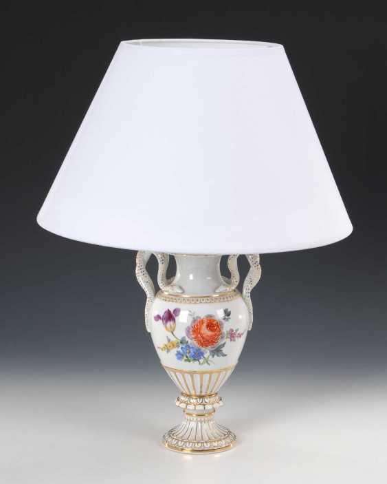 Snake handle vase as a lamp base, Meis - photo 1