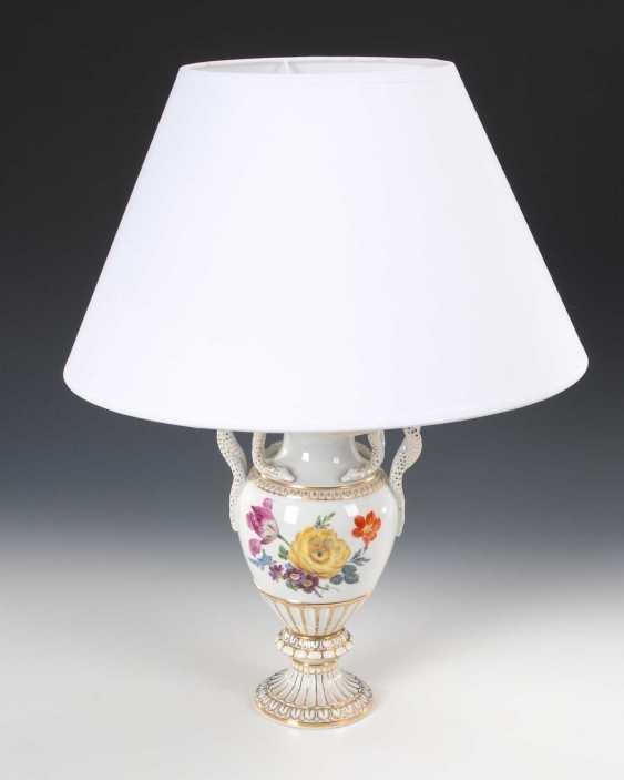 Snake handle vase as a lamp base, Meis - photo 3