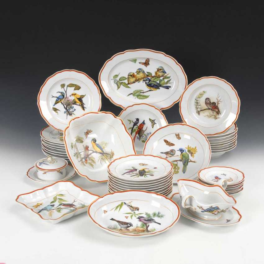 Dining service with bird painting Meissen - photo 1