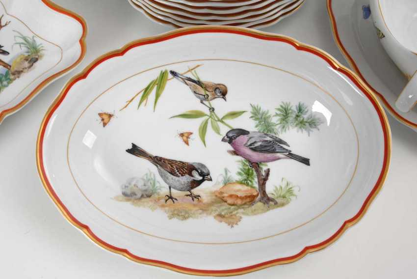 Dining service with bird painting Meissen - photo 2