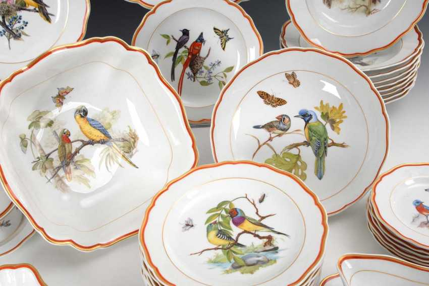 Dining service with bird painting Meissen - photo 3