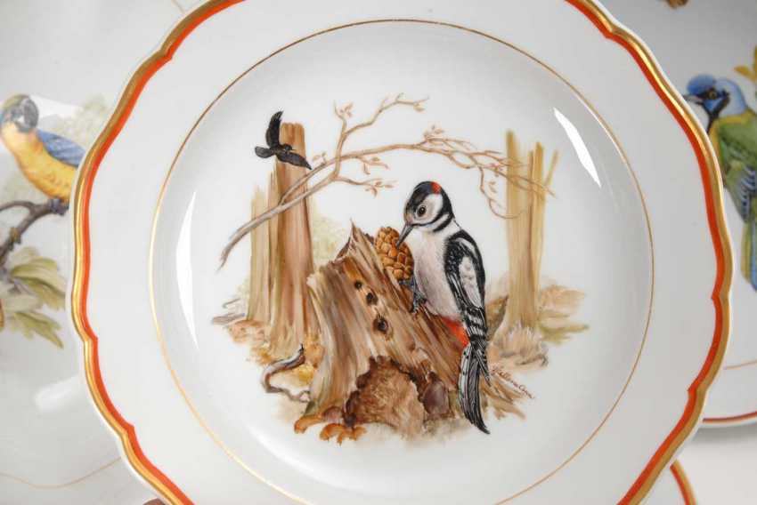 Dining service with bird painting Meissen - photo 7