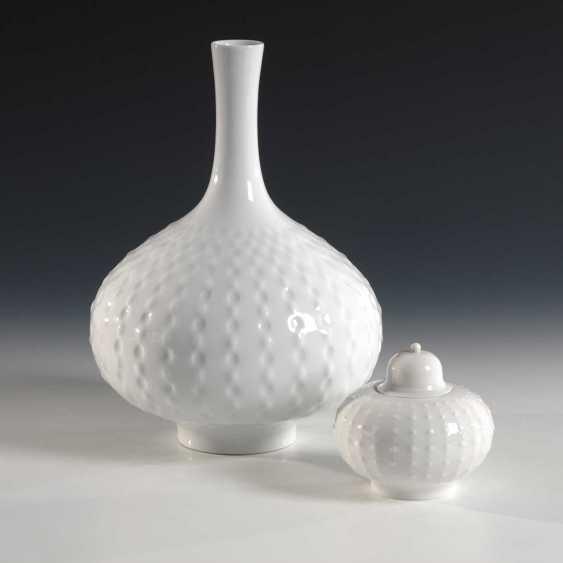 Vase and box, Meissen. - photo 1