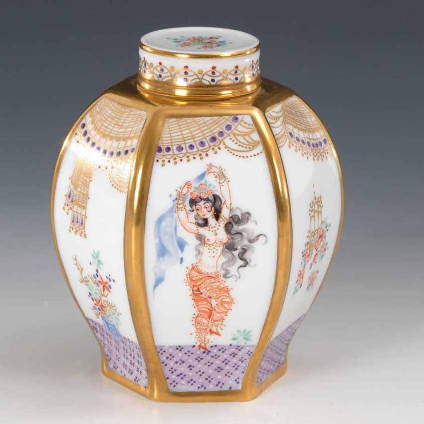 "Tea Caddy, ""A Thousand And One Nights"", Meissen - photo 1"