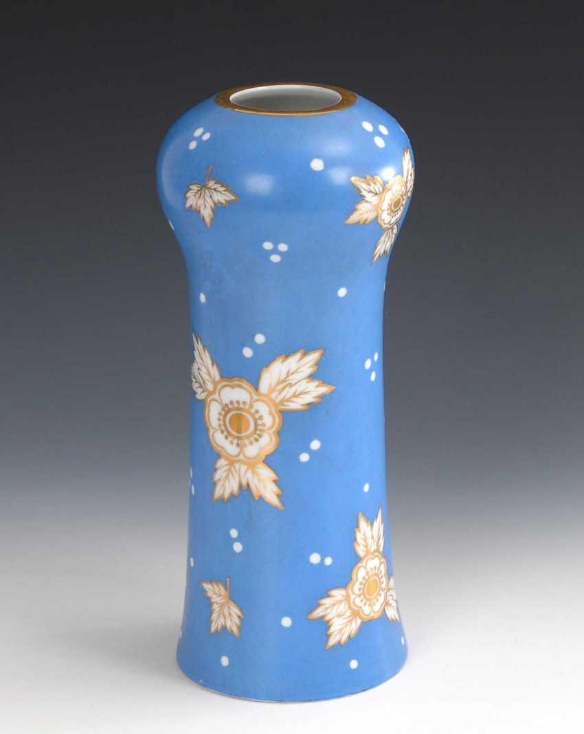 Vase with blue rear, Fraureuth. - photo 1