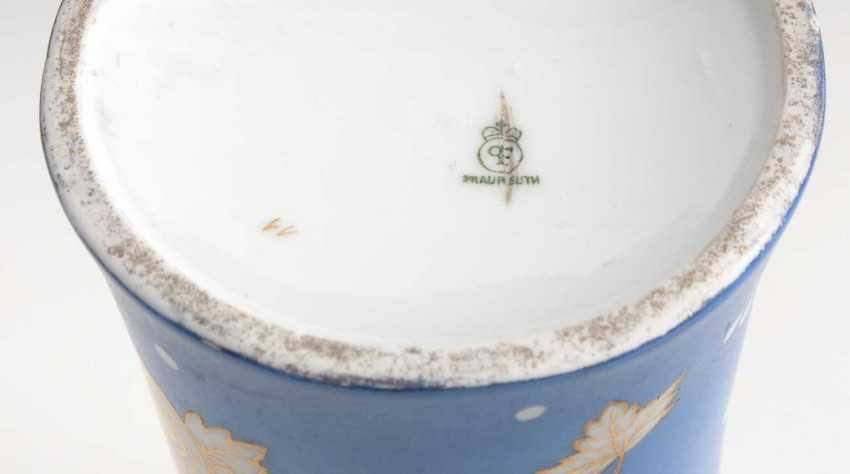 Vase with blue rear, Fraureuth. - photo 2