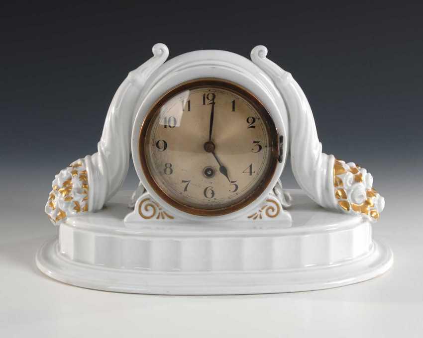 Art Deco clock with two Füllhörnern, Rose - photo 1
