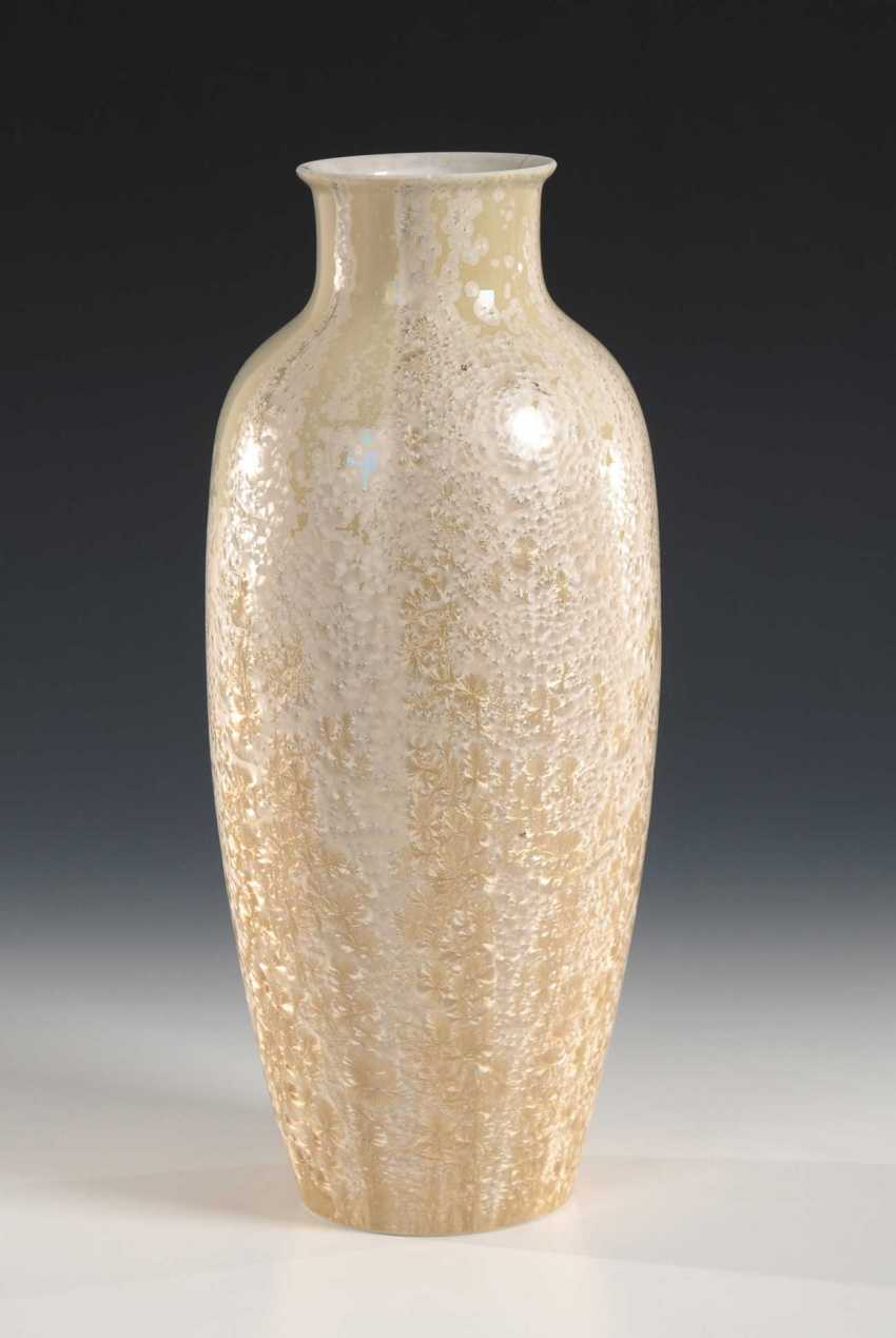 Vase with crystal glaze, KPM Berlin. - photo 1