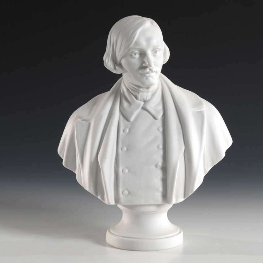 Bust: Nikolai Gogol, Lomonosov. - photo 1