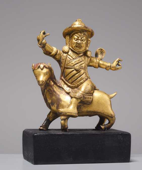 FIRE-GILT BRONZE OF THE DAMCAN ON GOAT - photo 1