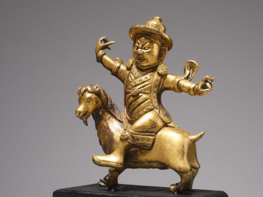 FIRE-GILT BRONZE OF THE DAMCAN ON GOAT - photo 2