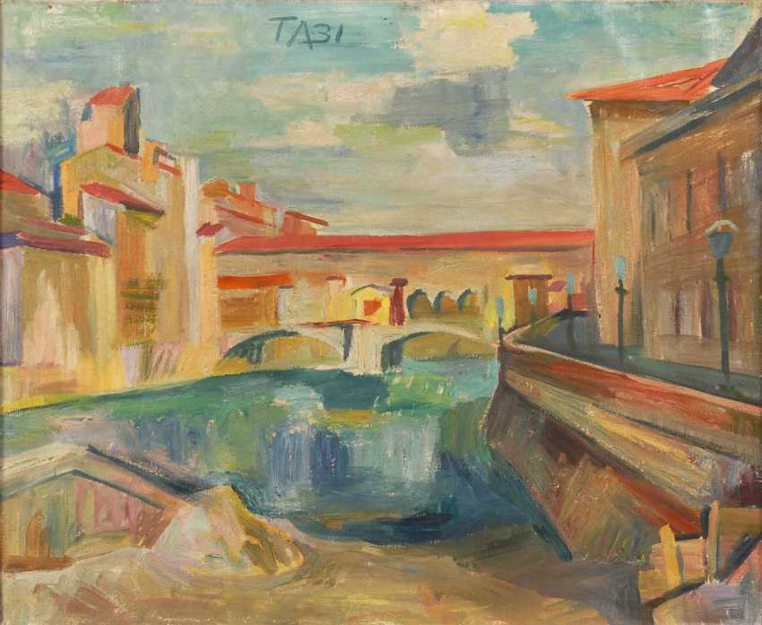 Aeckerle, Theo: a city canal and bridge - photo 1
