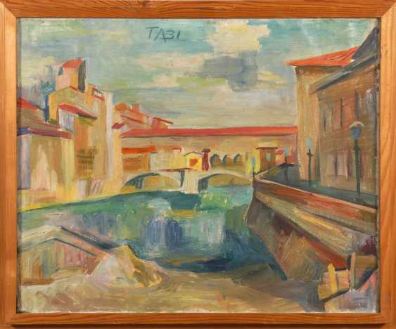 Aeckerle, Theo: a city canal and bridge - photo 2