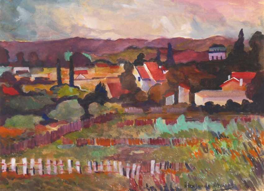 Altmann, Alexandre?: Village landscape in front of - photo 1