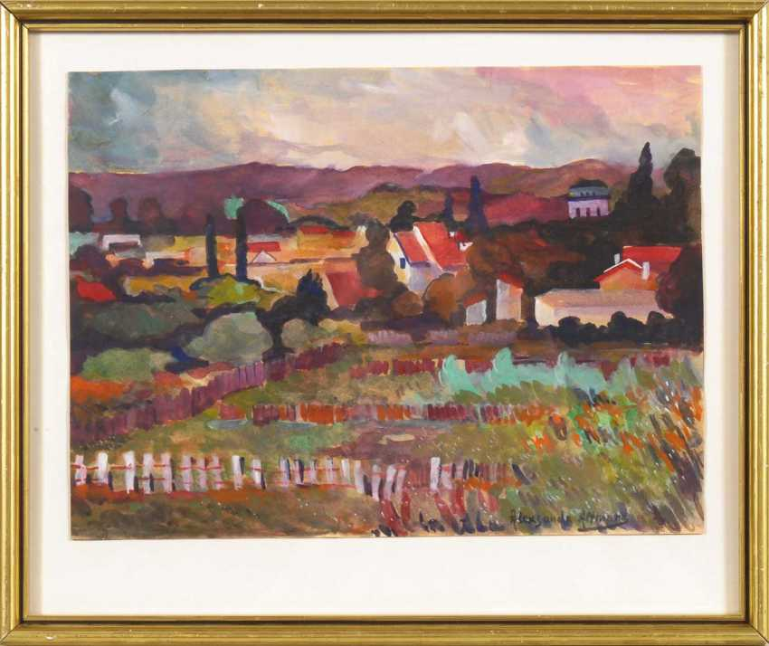 Altmann, Alexandre?: Village landscape in front of - photo 2