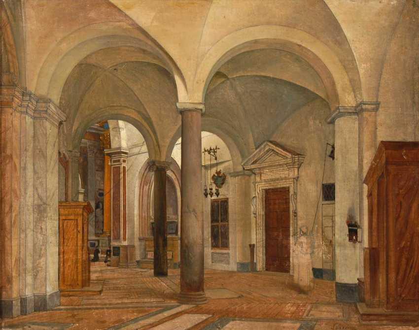 Architecture painter, around 1820/30: interior - photo 1