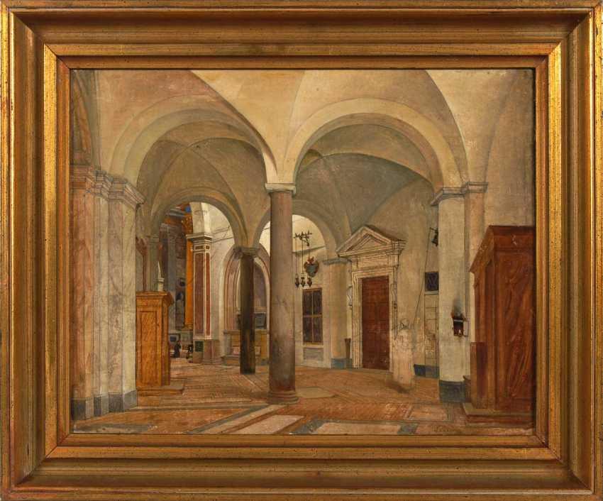 Architecture painter, around 1820/30: interior - photo 2