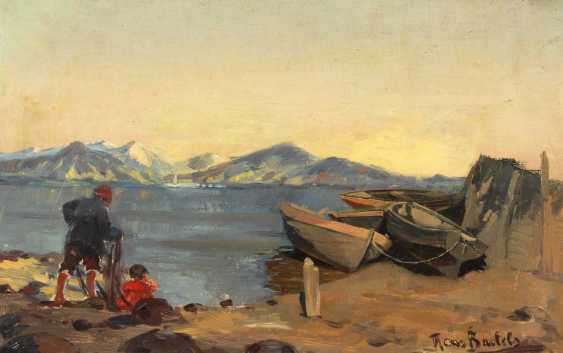 Bartels, Hans: fishermen on the shore. - photo 1