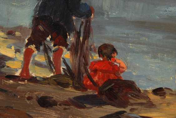 Bartels, Hans: fishermen on the shore. - photo 2